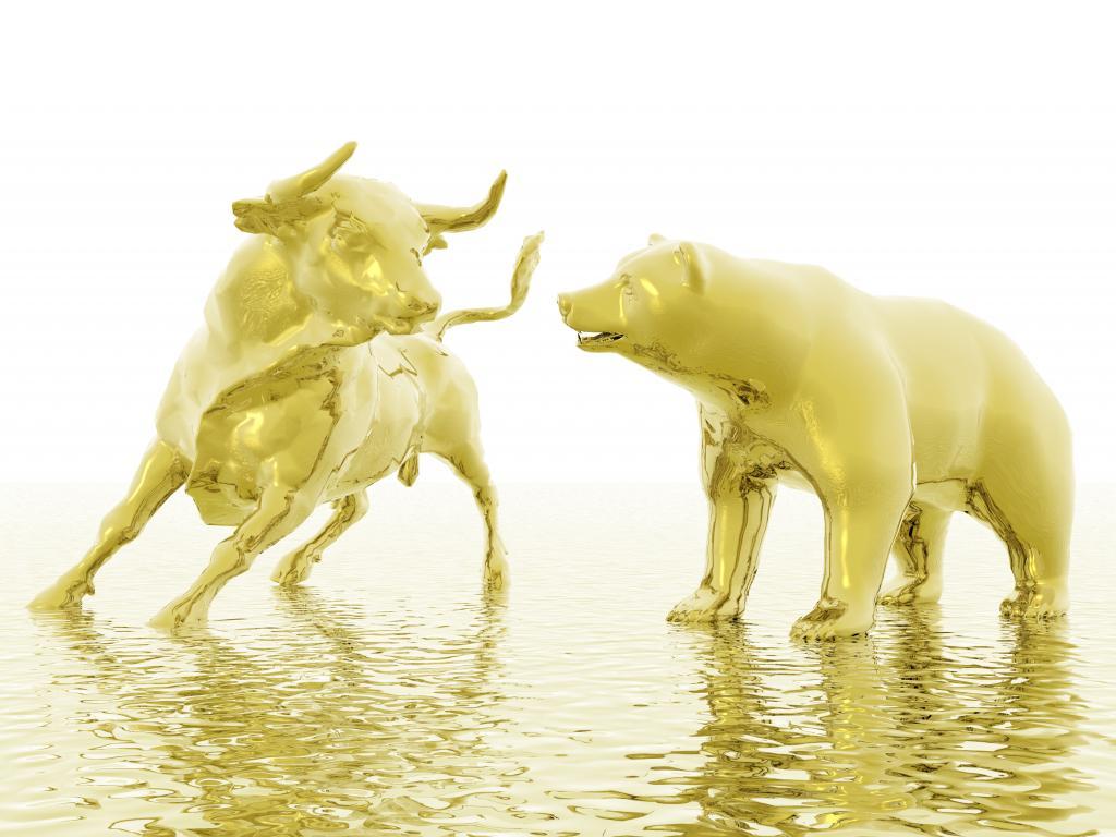 gold bull bear